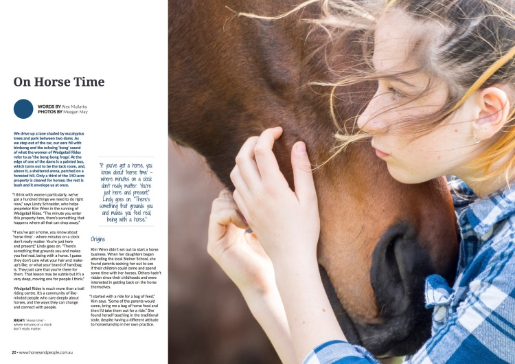 Horses and People November issue_Wedgetail Rides p1